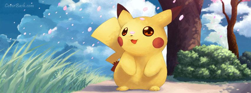 pikachu facebook cover photo