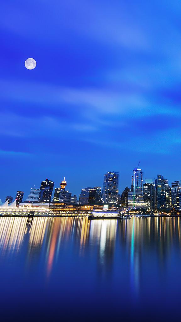 iPhone 6 wallpaper Moon City