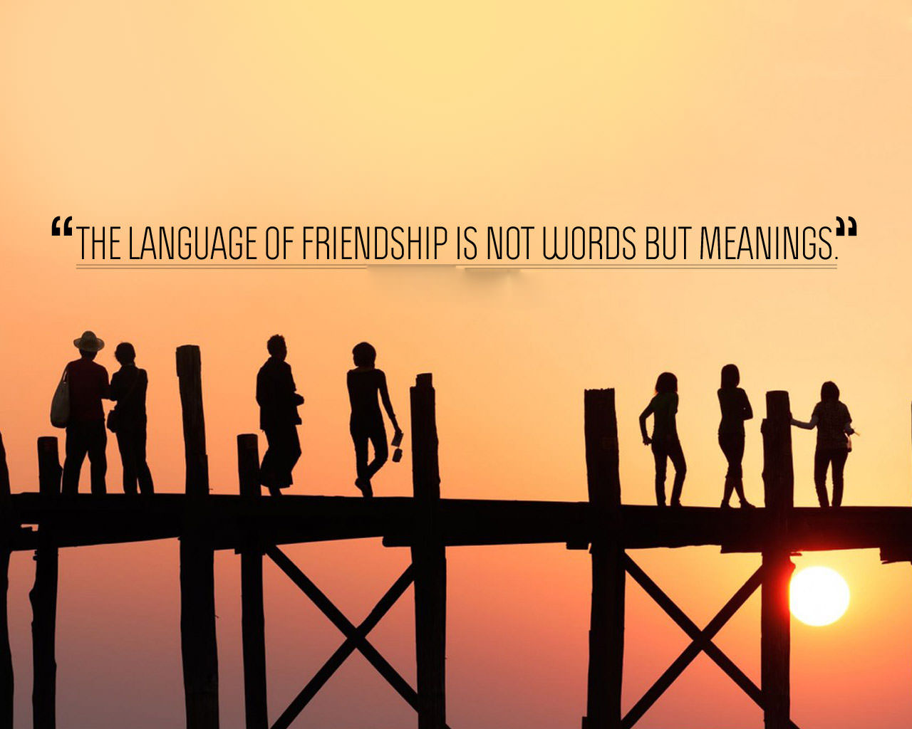 Friends Quote Wallpaper